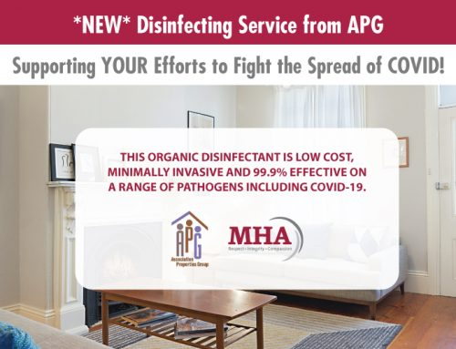 MHA introduces *NEW* Disinfecting Service from APG